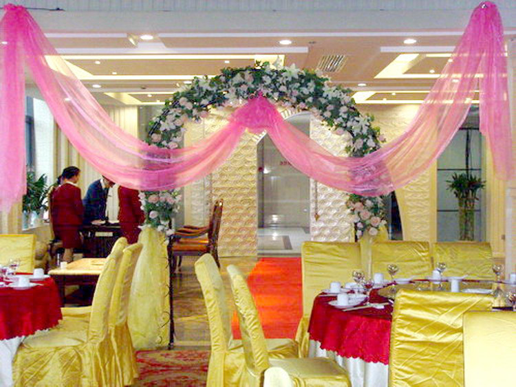 婚庆婚房布置纱幔珍珠纱 欧式气车婚礼楼梯会场装饰纱幔批发