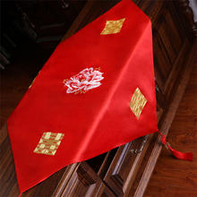 中式复古红色流苏盖头大红色绣花盖头秀禾服龙凤褂盖头