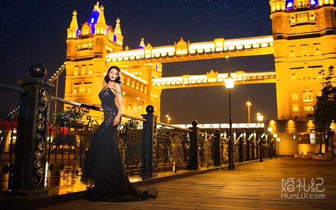 苏州独家摄影基地 欧式璀璨夜景一套