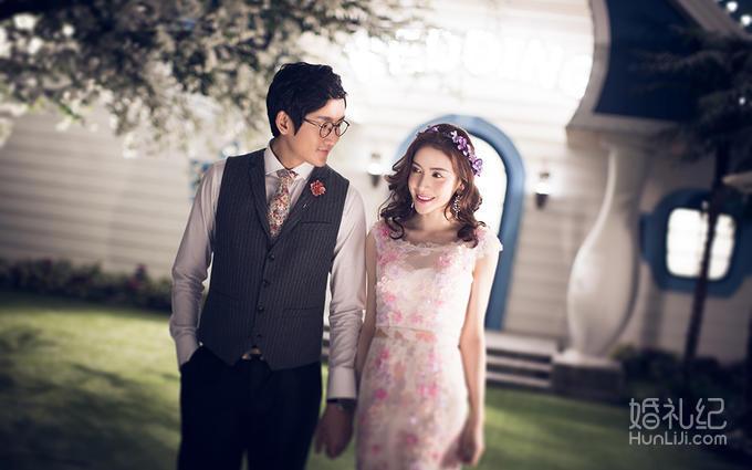苏州独家摄影基地+欧式璀璨夜景一套婚纱摄影【婚礼纪