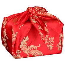 春节后发】喜盆包裹红布中式刺绣包袱皮结婚用品女方陪嫁新娘嫁妆