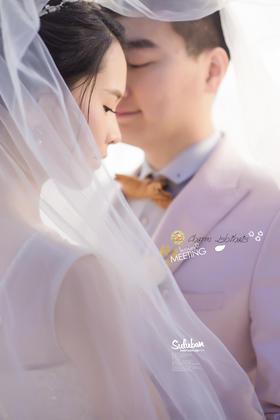 青岛幸福旅拍唯美海景婚纱照