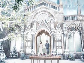 冰雪奇缘内景拍摄基地欧式宫殿城堡婚纱照