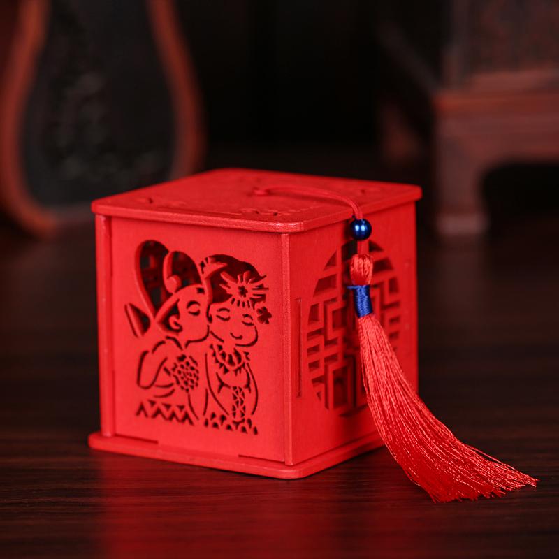 木制喜糖盒子创意结婚婚礼婚庆糖盒 婚庆用品礼品礼盒