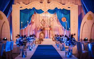 【曼悦婚礼】撞色欧式大气风婚礼-蓝色心情