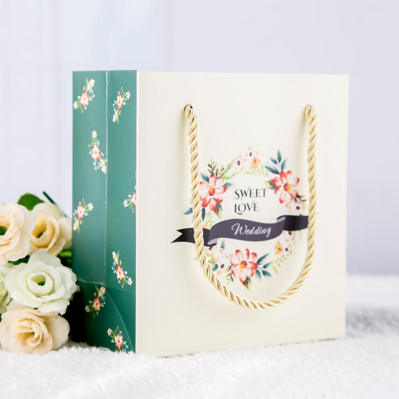 绿野仙踪婚礼回礼手提袋欧式结婚喜糖盒袋子礼品袋批发森林系纸袋