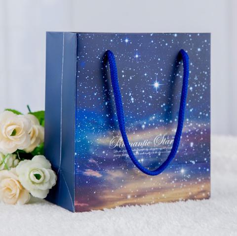 婚礼回礼手提袋欧式结婚喜糖袋子浪漫星空礼品袋批发