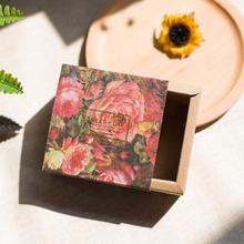 vini婚品用品  复古玫瑰花牛皮纸喜糖盒