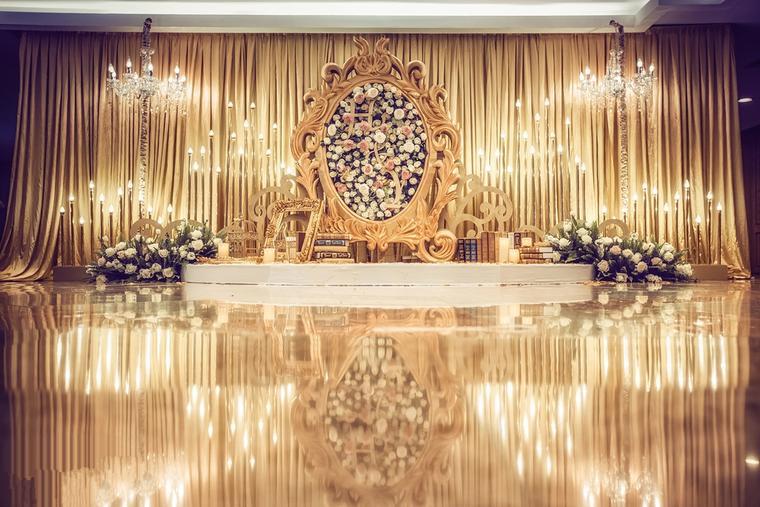 奢华大气风婚礼《Golden Time》欧式婚礼布置