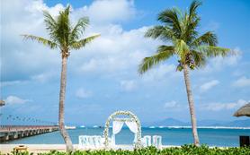 【沙滩婚礼】三亚鹿回头国宾馆沙滩婚礼【糖果婚礼】