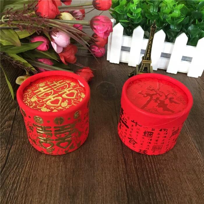 特价结婚喜糖盒子礼盒 中式创意圆筒纸盒 圆形糖盒中国风喜糖盒