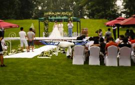 总监档航拍资深4K专业无人机草坪婚礼录像