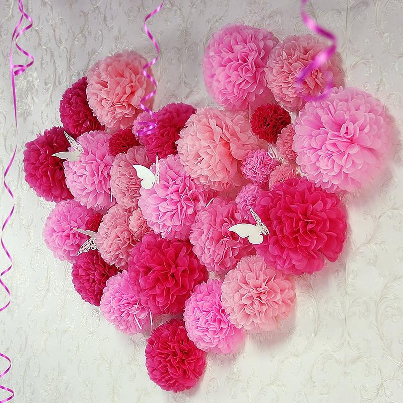 40个纸花球七夕创意结婚拉花婚房布置婚庆婚礼新房情人节装饰用