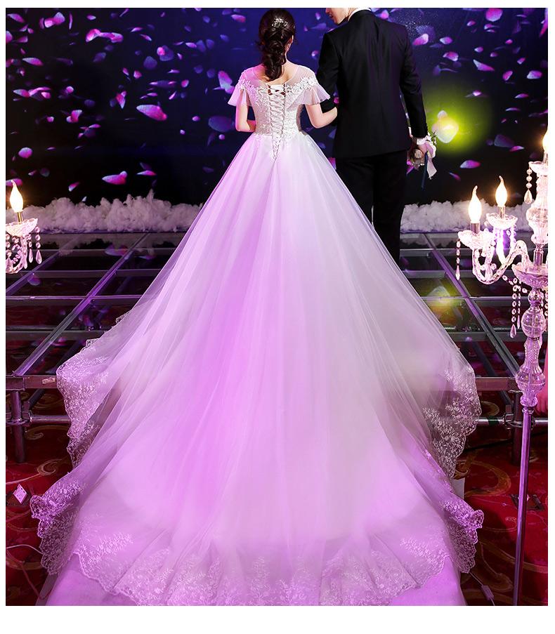 拖尾婚纱照发型图片展示图片