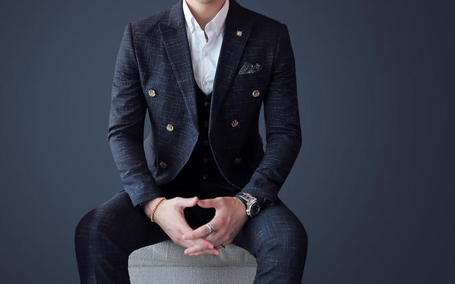 苏色定制|时尚绅士双排扣西服