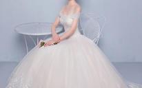 结婚显瘦修身韩版一字肩婚纱齐地婚纱礼服夏季新款新娘488