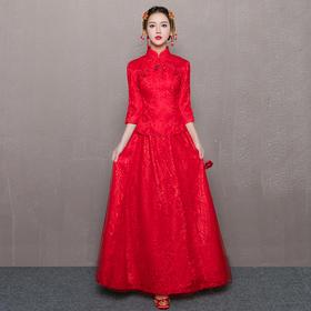 新娘敬酒服中式秀禾服嫁衣中国风旗袍结婚礼服女长款夏季