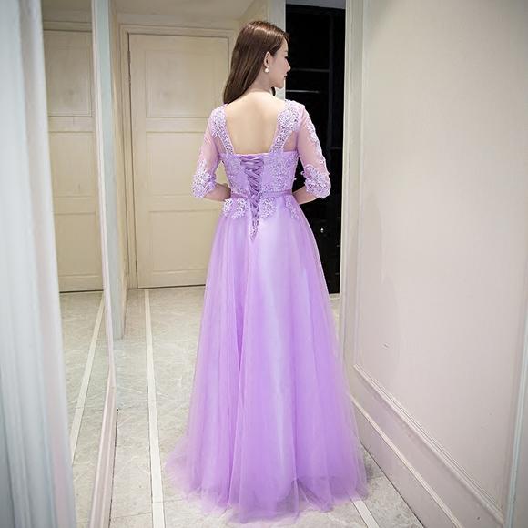 晚礼服新款结婚伴娘服长款显瘦婚礼宴会主持人礼服裙演出服女
