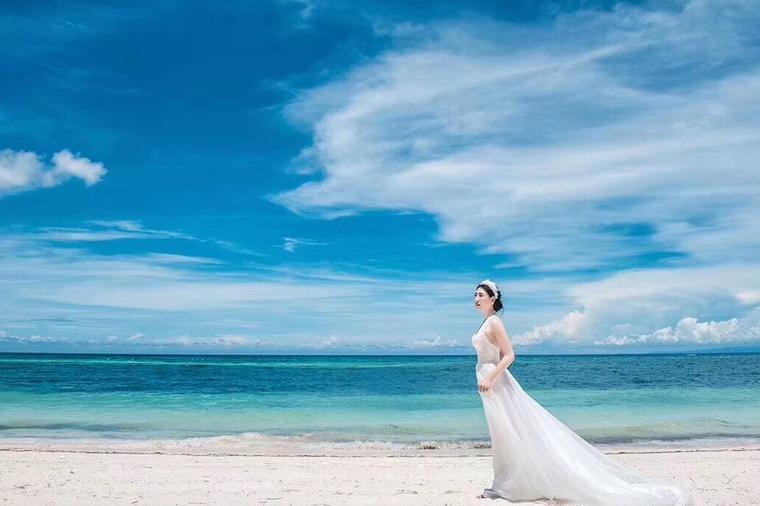 【新娘出门纱外景纱】炎炎夏日相爱薄荷岛
