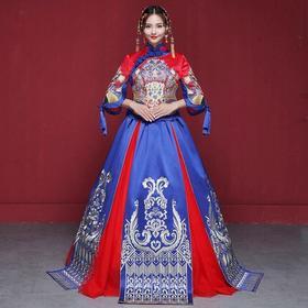 新款 新娘中式新娘结婚礼服秀禾服嫁衣龙凤褂旗袍