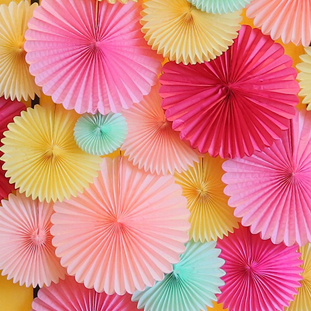 结婚欧式纸花扇装饰用品 婚礼布置生日求婚道具