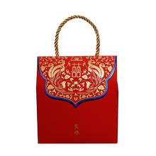 红色结婚喜糖盒子创意糖果盒中式婚礼喜糖袋婚庆用品 纸盒