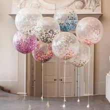 结婚装饰布置18寸12寸透明气球纸片气球乳胶气球