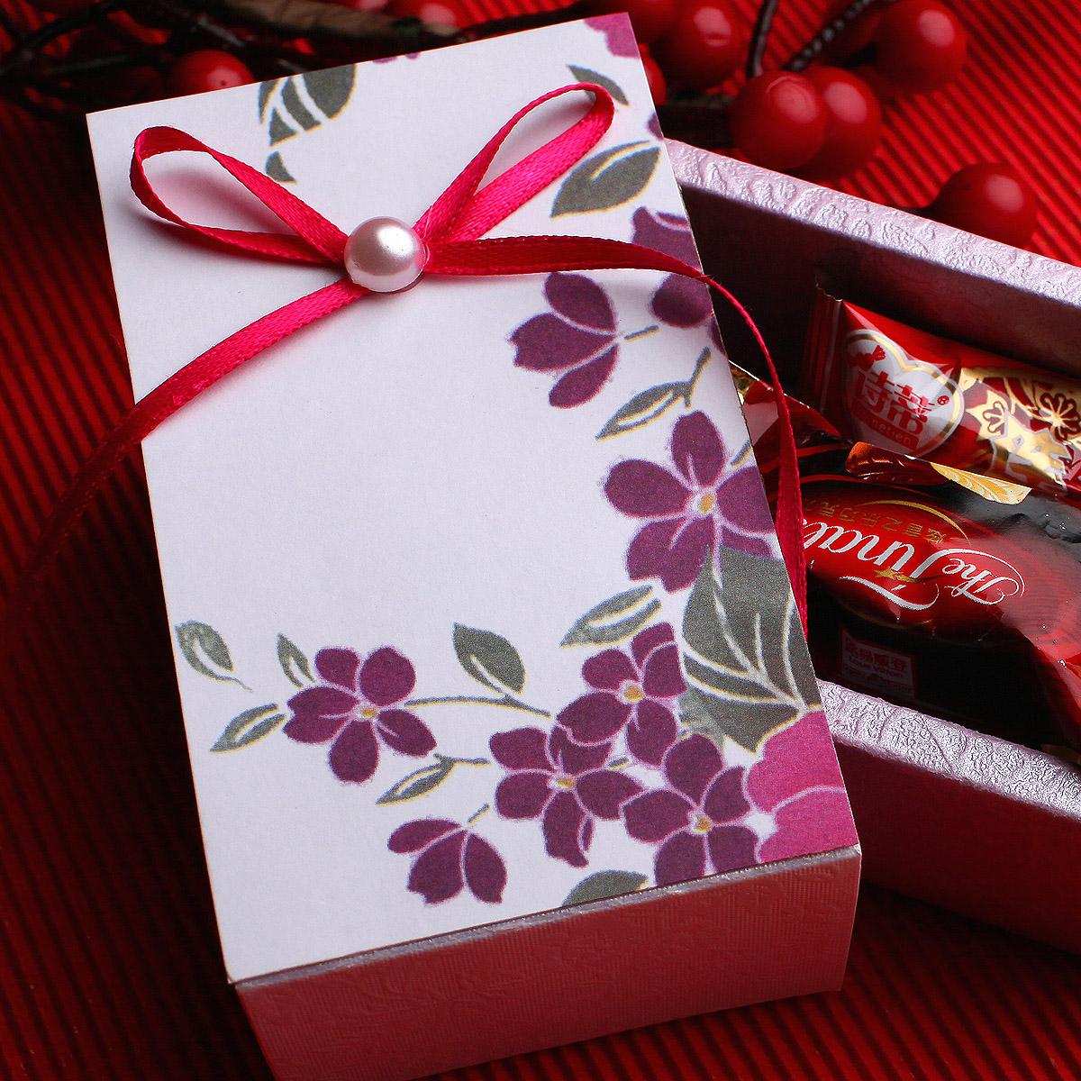 结婚喜糖盒成品含糖礼盒装高档