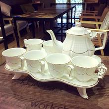 欧式骨瓷咖啡杯套装英式高档下午茶茶具创意陶瓷杯简约家用花茶杯