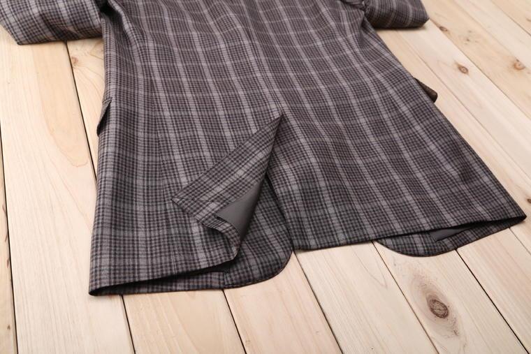 【男士婚纱礼服】红领西服高级定制—棕色小格子西装