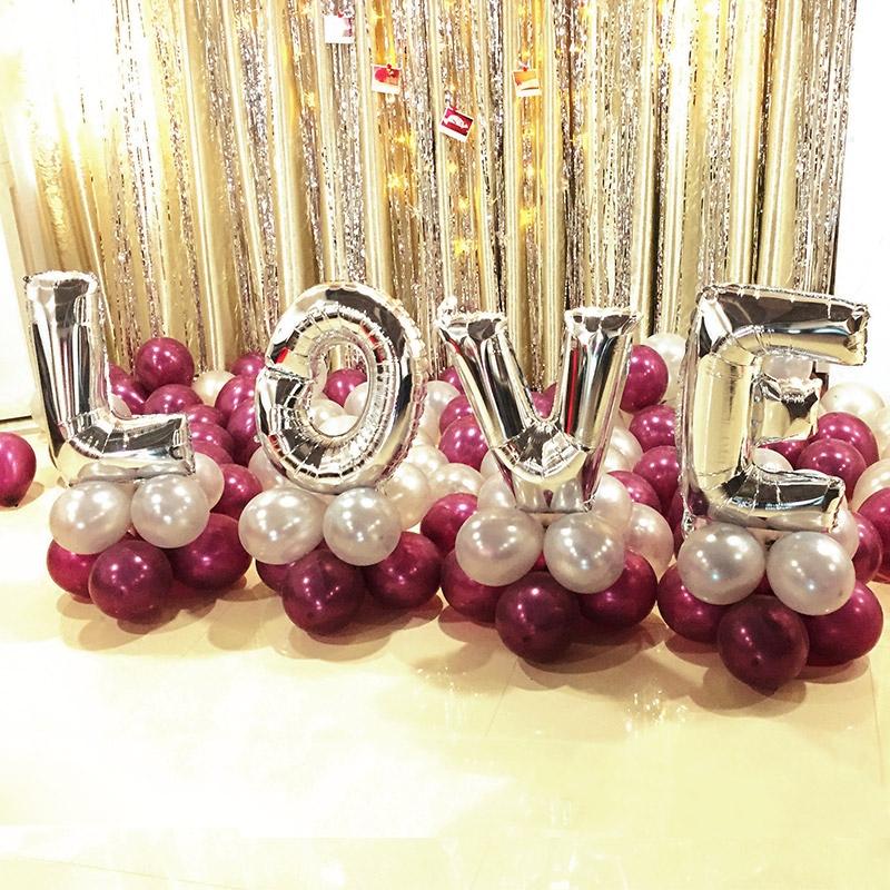 婚庆用品婚房布置装饰love圆形告白结婚气球创意婚礼图片