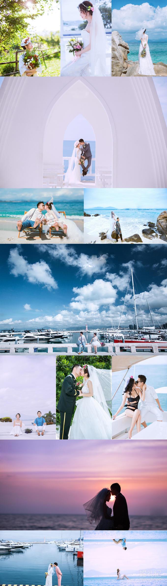 【三亚旅拍】超级特惠8服8造海边婚纱照