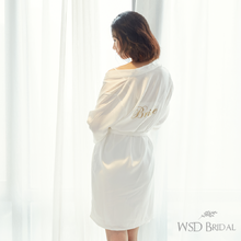 韩式清新字母刺绣婚礼晨袍