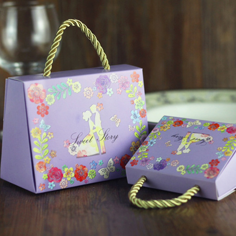 喜糖盒子婚庆用品 婚礼喜糖袋包装糖果盒 创意喜糖盒