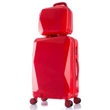 婚庆红色结婚箱子新娘陪嫁嫁妆皮箱24寸旅行拉杆箱20寸行李箱