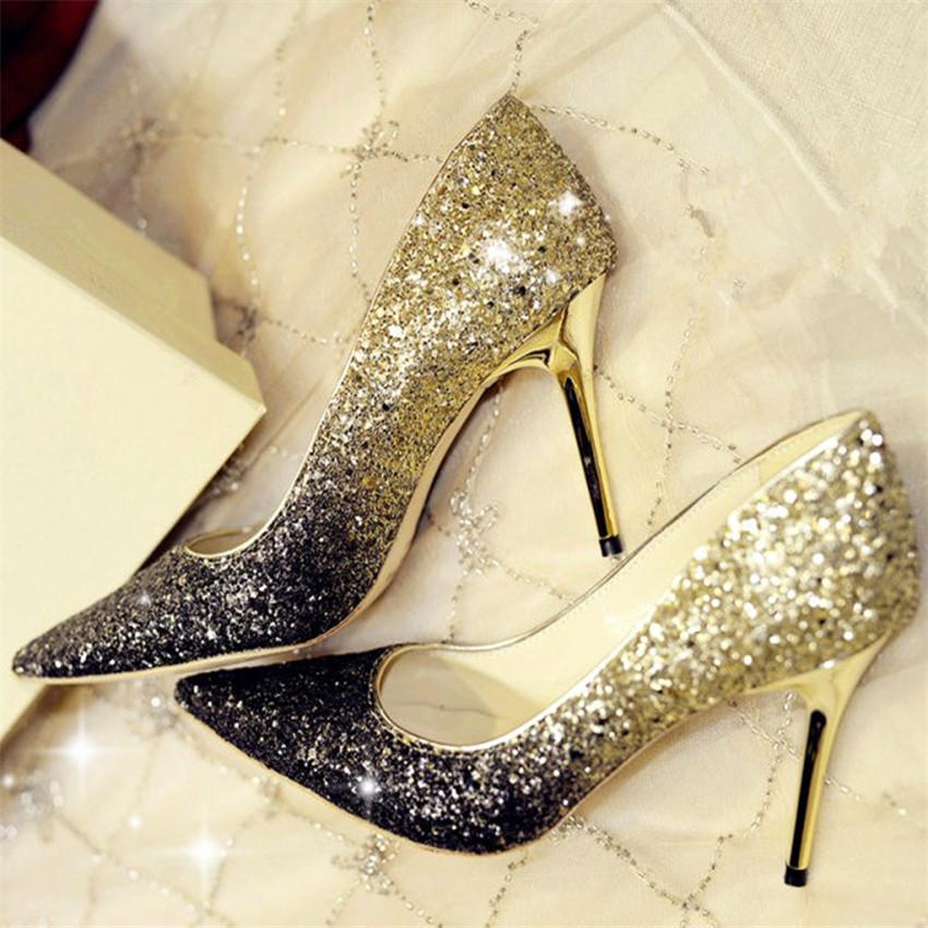 高跟鞋韩版金银色新款婚鞋猫跟价格质量 哪个牌子比较