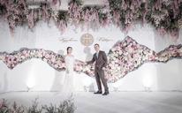 新中式风大理石裂纹清新婚礼