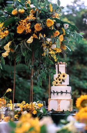 Norman诺曼婚礼-橙黄色森系婚礼布置