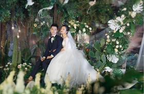 【七彩蘭清新婚礼作品】一叶森,一物梦,一片羽