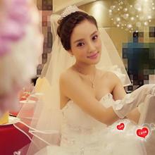 明星同款新娘头纱韩式单层1.5米简约结婚婚纱头纱包邮
