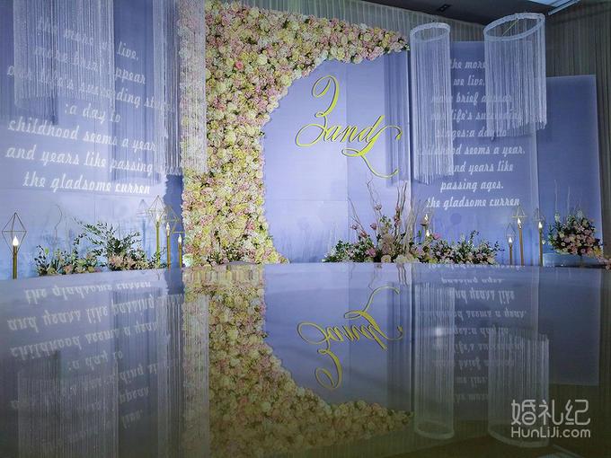 欧式方柱婚礼布置