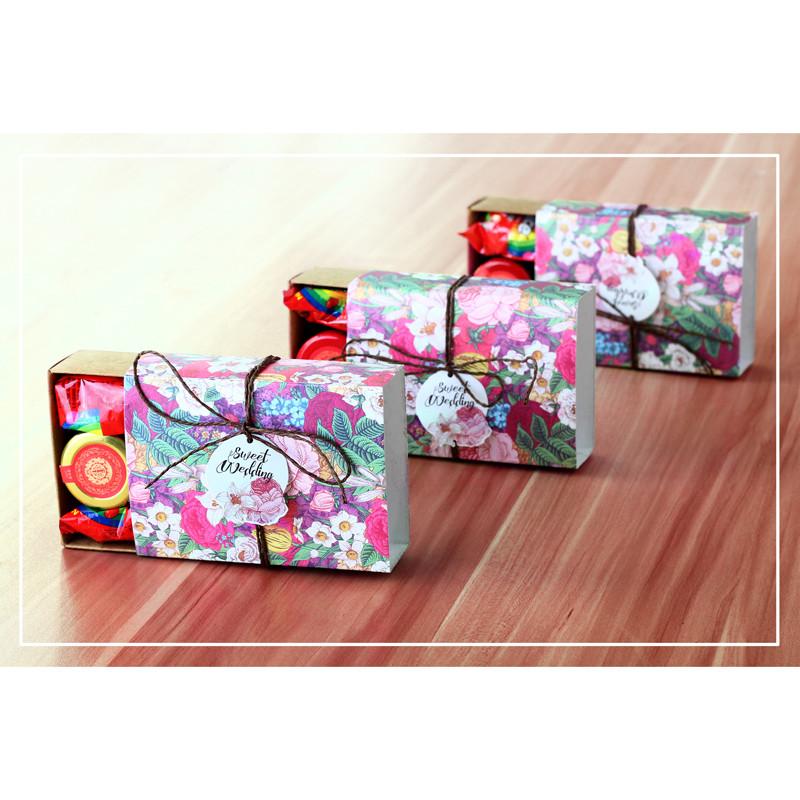 结婚礼盒喜糖盒创意森系抽屉式牛皮纸盒个性糖果包装