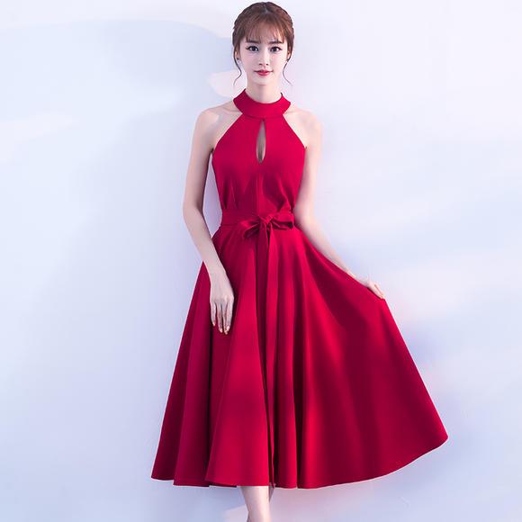 新娘敬酒服 新款时尚秋冬季韩版优雅中长款修身结婚晚礼服