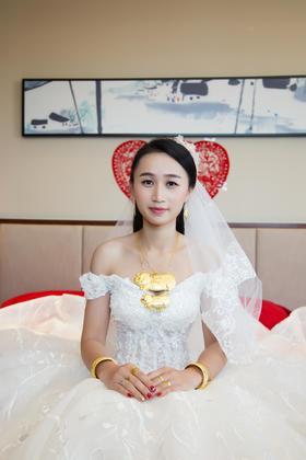 「首席摄影」洁白可爱新娘婚礼单机摄影