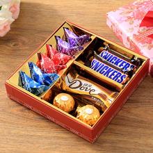 欧式满月创意喜糖盒结婚回礼盒套装成品含糖好时德芙费列罗巧克力