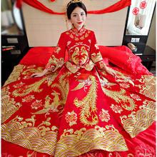 送头饰新娘中式婚纱秀禾服复古礼服龙凤褂秀和服结婚敬酒服