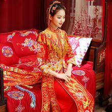 【新品/厂家厂价】秀禾服旗袍新娘冬季结婚中式嫁衣婚纱龙凤褂女