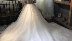 跟妆+3套婚纱礼服+6件伴娘服 花费1314感觉好贵!