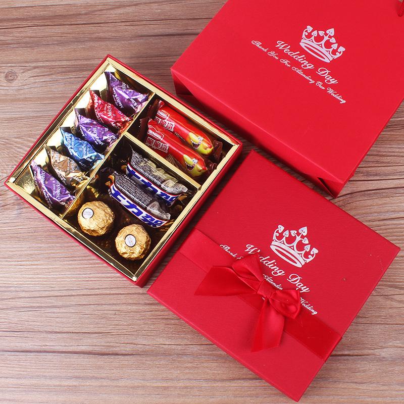 结婚喜糖礼盒装成品含糖