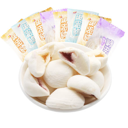 雪丽糍夹心棉花糖多口味结婚糖喜糖散装婚庆500g约84粒
